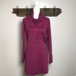 Kuhl Dress Long Sleeve Funnel Neck Raspberry Color